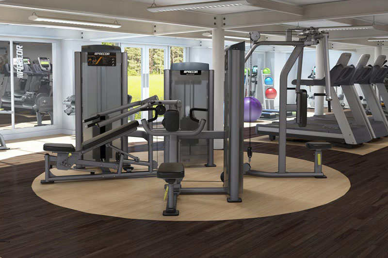 The well equipped gym at The Cloisters Spa
