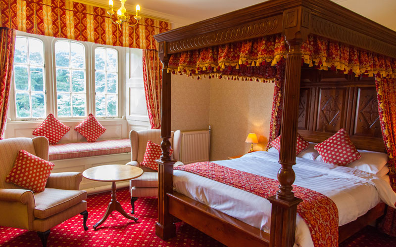A four-poster bedroom at The Parsonage