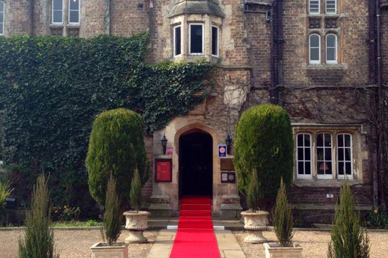 The entrance of the Parsonage Hotel & Spa, Escrick