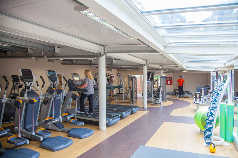 The gym at The Parsonage Hotel & Spa