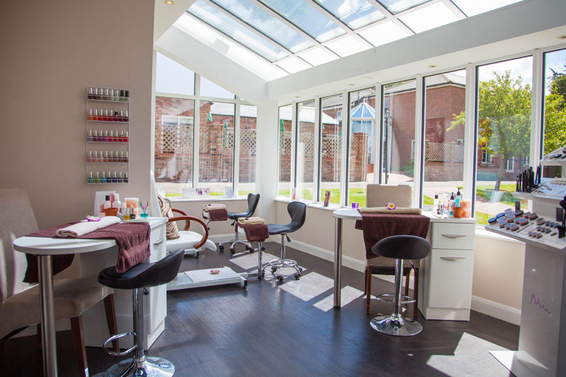 The nail bar at The Cloisters Spa